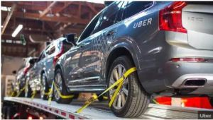 uber-cars-on-flatbed-truck